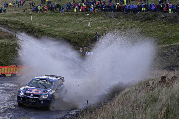 Ogier leads, Mikkelsen on course for podium – Volkswagen starts strongly at season finale in Wales