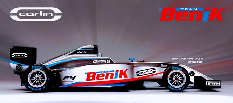 The Benik Carlin Team coming in 2016 (Photo Benik-Kart.com)