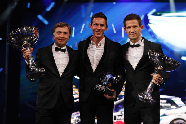 Three WRC trophies for Volkswagen – Rally World Champions honoured in Paris