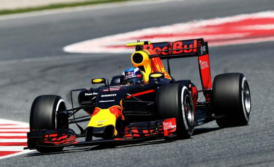 Max Verstappen in his new Red bull F1
