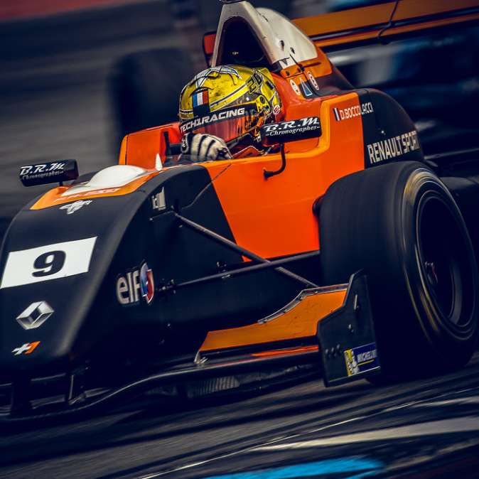 Dorian Boccolacci on the NEC podium after a disastrous weekend at Hockenheim