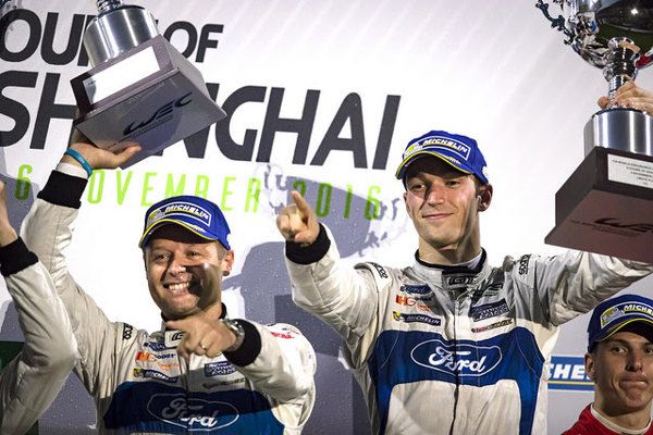FORD GT TAKES 1-2 FINISH IN SHANGHAI! Celebrations.