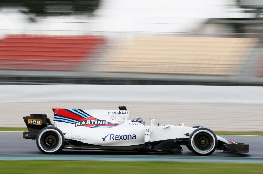 Lance Stroll in his Williams at the pre-season test