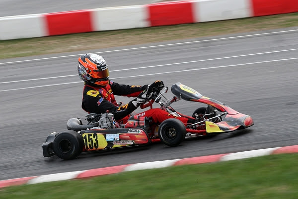 Massimo Dante, KZ2 on track