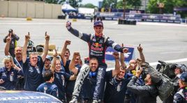 SEBASTIAN ERIKSSON CAPTURES FIRST GLOBAL RALLYCROSS SERIES VICTORY FOR HONDA