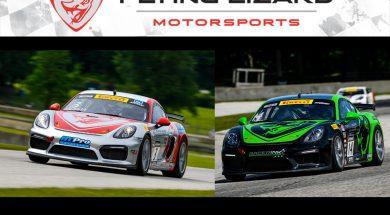 Flying Lizard Porsches Return to Mid-Ohio