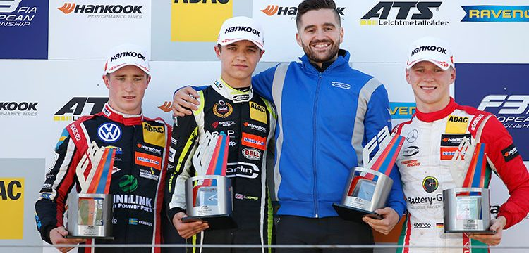 LANDO NORRIS WINS FROM JOEL ERIKSSON AND MAXIMILIAN GÜNTHER