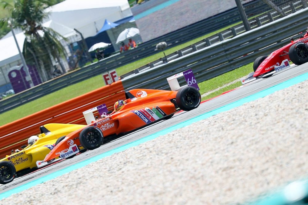 Daniel Cao sizzled in the heat of Sepang when he won the opening two races of the FIA Formula 4 Southeast Asia Championship – certified by FIA, yesterday.