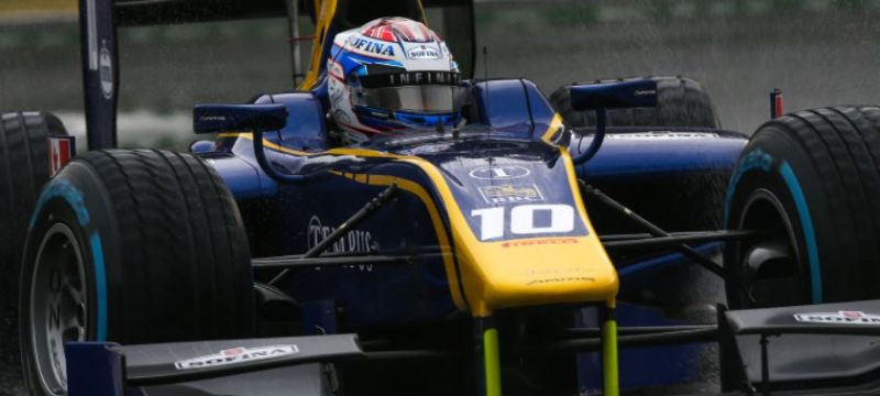 NICHOLAS SCYTHES THROUGH THE MONZA SPRAY FOR ANOTHER F2 PODIUM FINISH