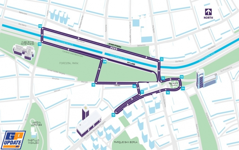 Formula E reveals Santiago circuit layout