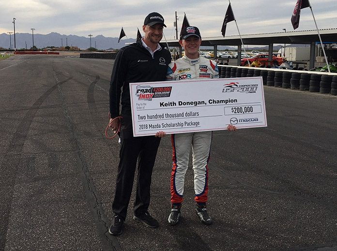 Donegan Receives Mazda Road To Indy Scholarship