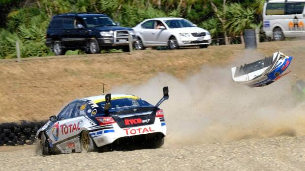 Driver Nick Ross recovers from crash to claim top places at Teretonga