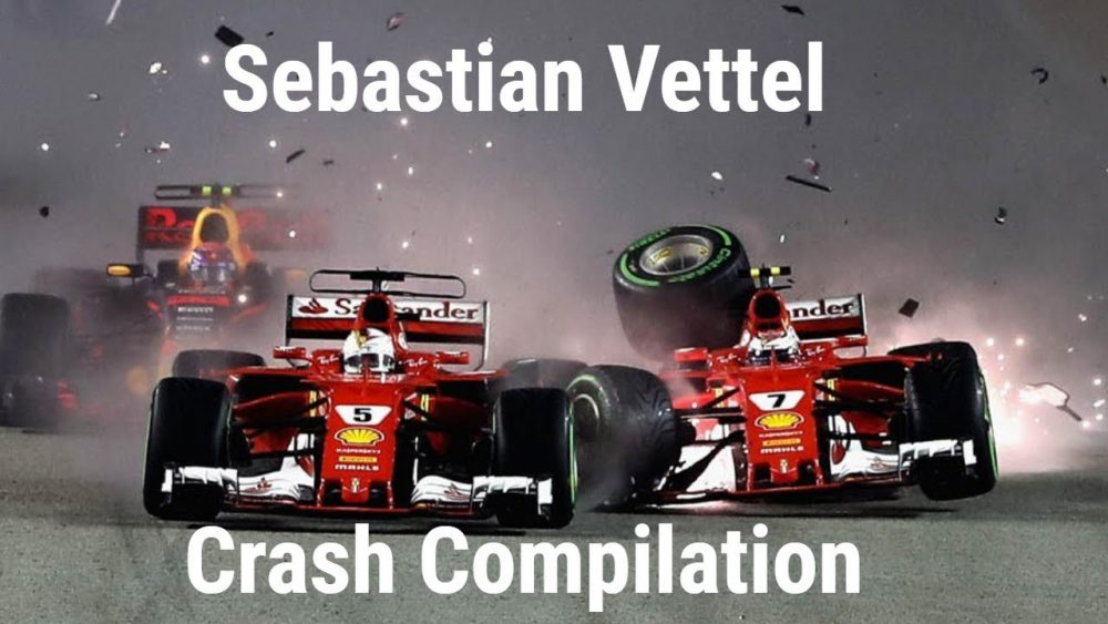 Sebastian Vettel F1 Crash  Compilation