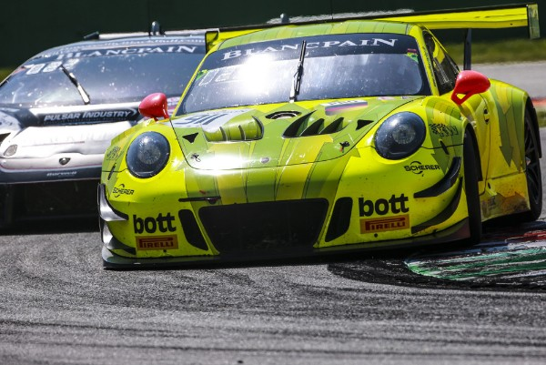 DIFFICULT START TO THE BLANCPAIN GT SERIES ENDURANCE CUP SEASON FOR THE PORSCHE 911 GT3 R AT MONZA