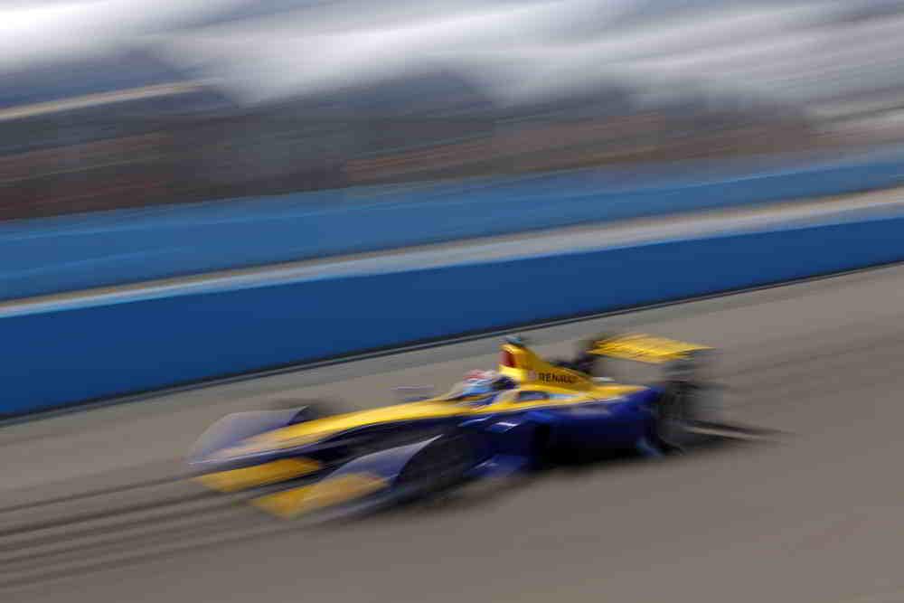 Sebastien Buemi at racing speed