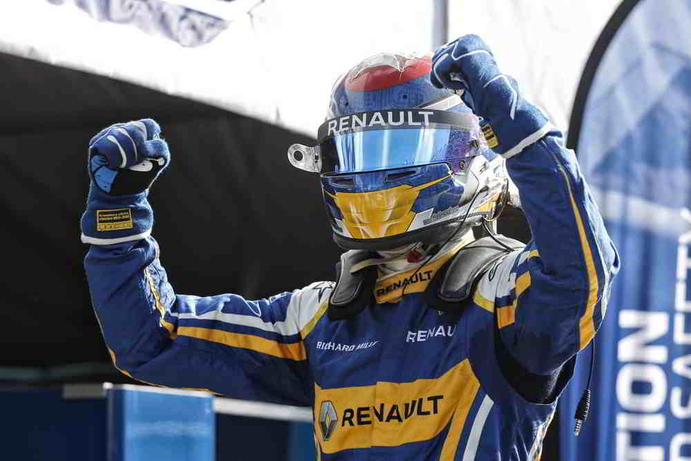 Sebastien Buemi savoring hs second win of the season putting him at the top