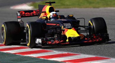 Test 2 day 1 barcelona redbull f1 Ricciardo