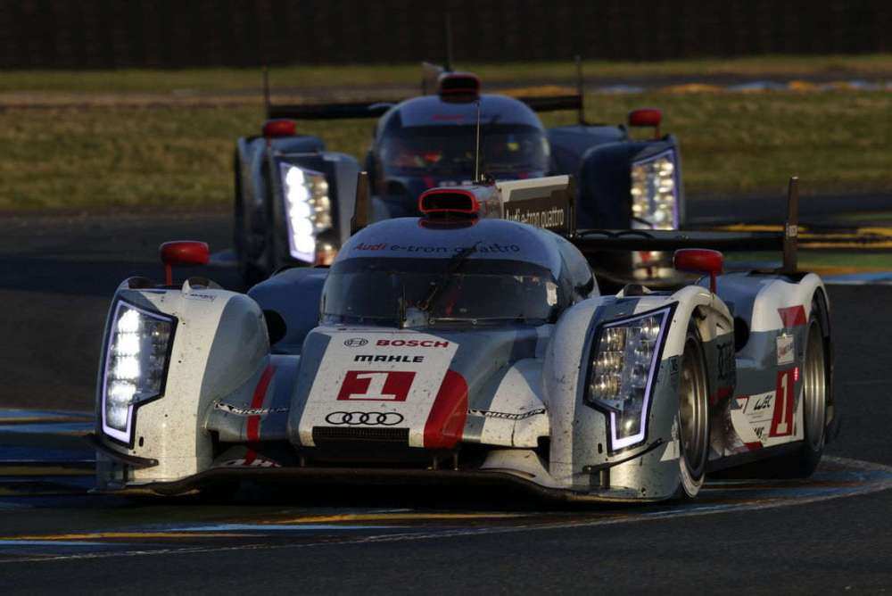 Historic triumph Audi achieves first victory of a hybrid vehicle at Le Mans