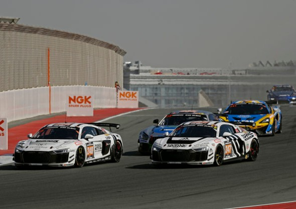 ONE-TWO VICTORY FOR THE GT4 VERSION OF THE AUDI R8 LMS AT PREMIERE IN DUBAI