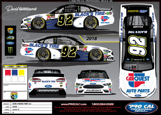 Ricky Benton Racing To Make Cup Debut With Gilliland