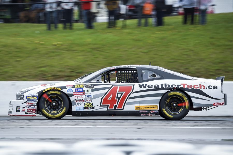 BOWMANVILLE, ON - MAY 20: NAME, driver of the ## SPONSOR Dodge Ford Chevrolet car during the NASCAR Pinty's Series race at Canadian Tire Mosport Park on May 20, 2016 in Bowmanville, Canada.