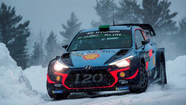 'Annoying' end as Kiwi rally driver Hayden Paddon fades to fifth place in Sweden