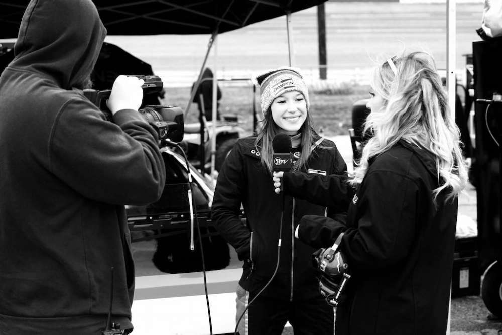 Molly Helmuth being interviewed