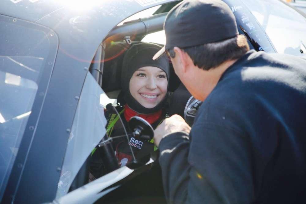 Molly Helmuth in racecar