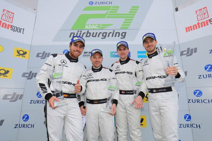Customer Racing: ADAC Qualification Race for 24h Race: Victory and third place for Mercedes-AMG Motorsport