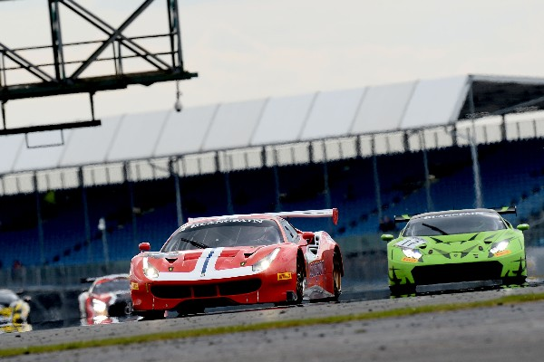 EIGHT FERRARI 488 GT3S ON TRACK AT MONZA IN THE BLANCPAIN GT SPORTS CLUB