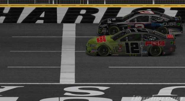 Shelton gets iRacing win at Charlotte with last-lap pass