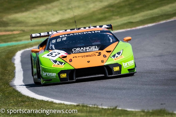 GRT GRASSER RACING TEAM SPRINT THROUGH BLANCPAIN GT SERIES ROUND 3 AT BRANDS HATCH CIRCUIT