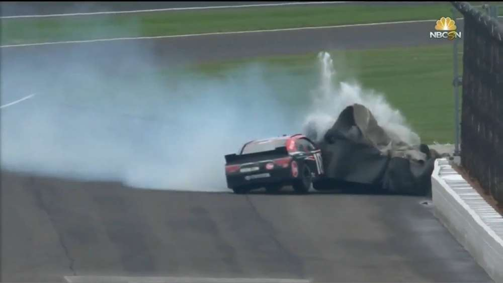 NASCAR Xfinity Series 2018. Indianapolis Motor Speedway. Ryan Preece Hard Crash