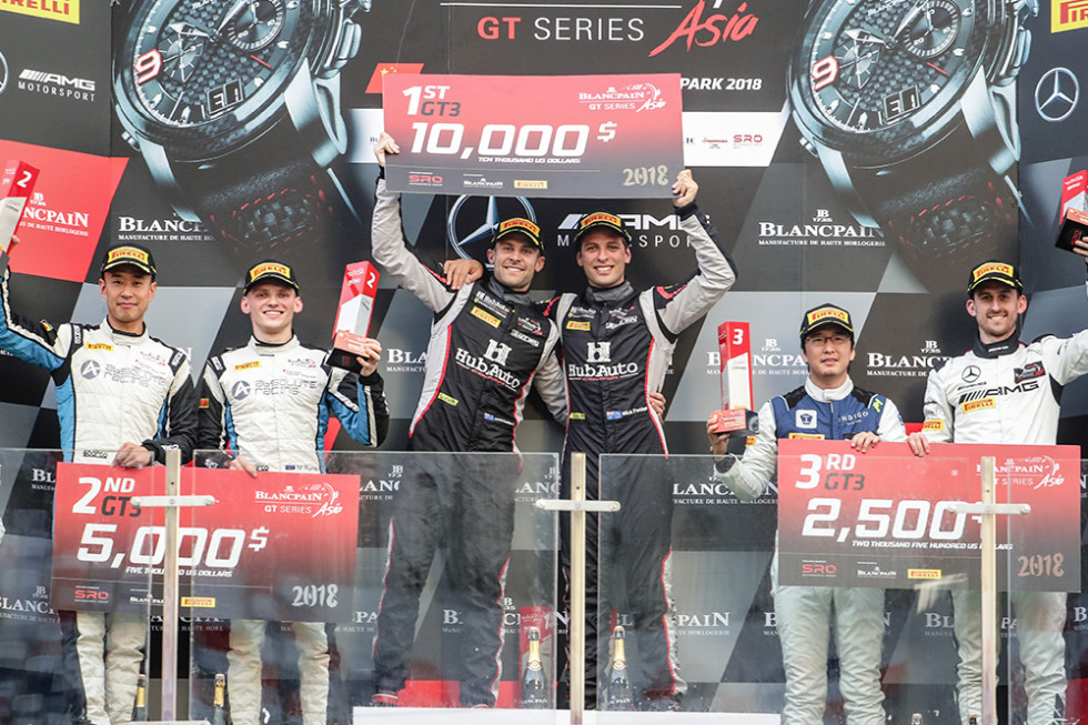 Foster and Lester's HubAuto Ferrari wins dramatic first race at Ningbo; Renger crowned GT4 champion following Team Studie's penalty
