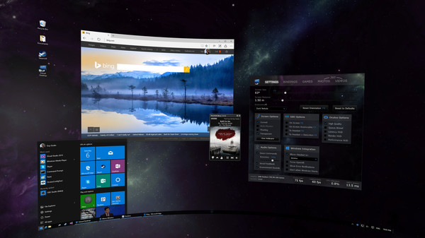 Virtual desktop for gear vr