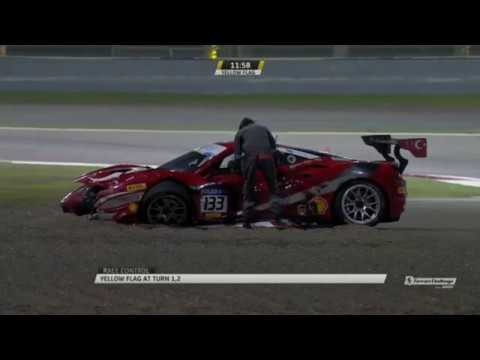 Ferrari Challenge Europe (Coppa Shell) 2019. Race 1 Bahrain International Circuit. Restart Crash_5c684db335bdd.jpeg