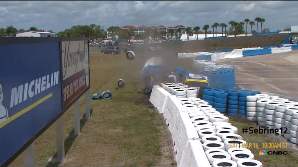 Michelin Pilot Challenge 2019. Sebring International Raceway. Hard Crash_5c8be130bf635.jpeg