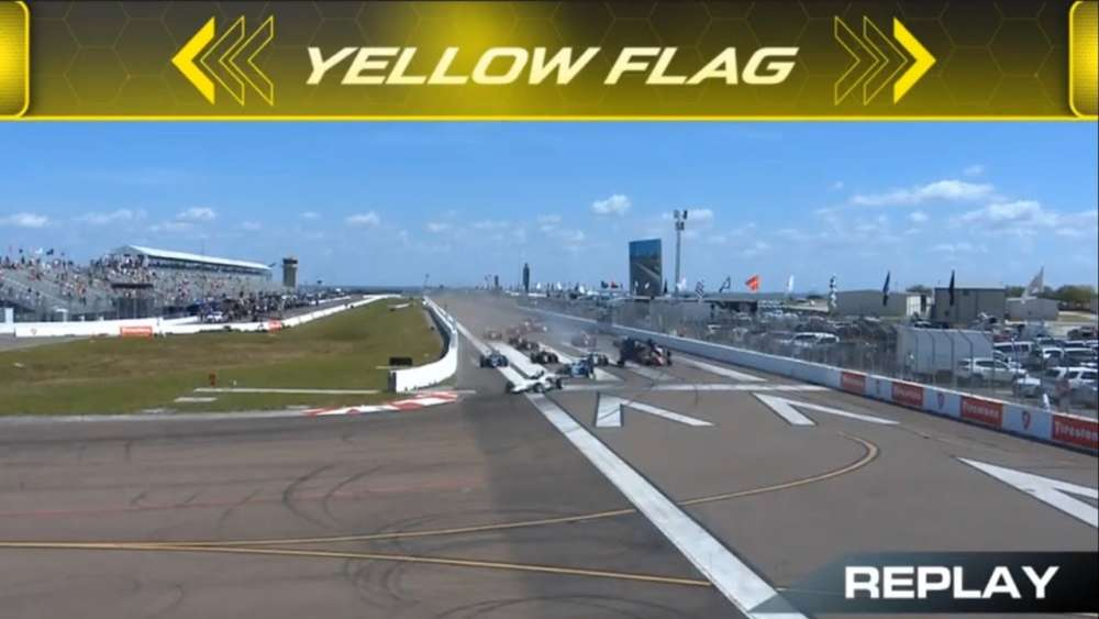 USF2000 Championship 2019. Race 1 Streets of St. Petersburg. Alex Baron Start Crash Flip_5c89a5461522d.jpeg