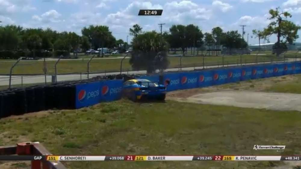 Ferrari Challenge North America (Coppa Shell) 2019. Race 2 Sebring International Raceway. Crash_5caa48bfbcb67.jpeg