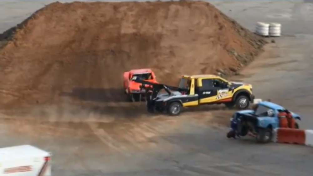 Stadium Super Trucks 2019. Race 2 Texas Motor Speedway. Crash Rolls_5ca274cda32ea.jpeg