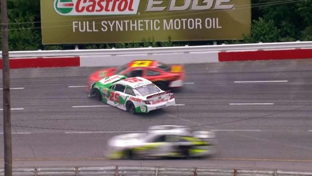 ARCA Menards Series 2019. Fairgrounds Speedway Nashville. Michael Self Crash Aftermath_5cd87a84c92fc.jpeg