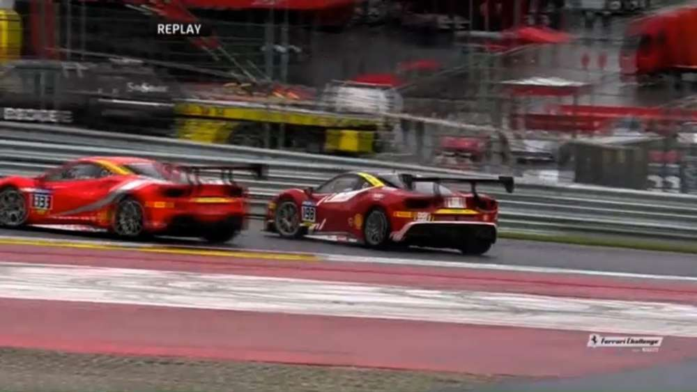 Ferrari Challenge Europe (Coppa Shell) 2019. Race 1 Red Bull Ring. Leaders Crash_5ccdab5765ed5.jpeg