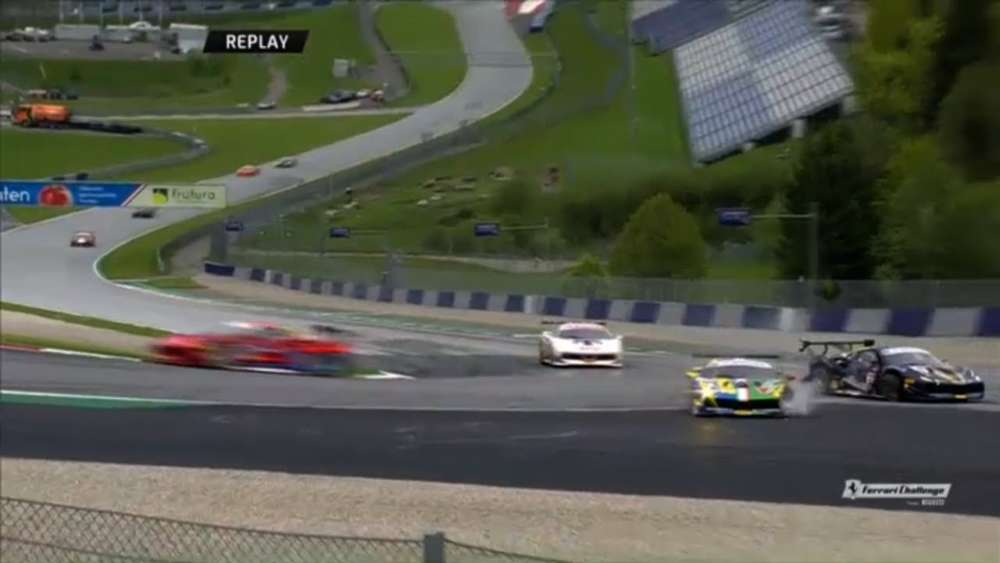 Ferrari Challenge Europe (Trofeo Pirelli) 2019. Race 1 Red Bull Ring. Crash_5ccdadaf85ea3.jpeg