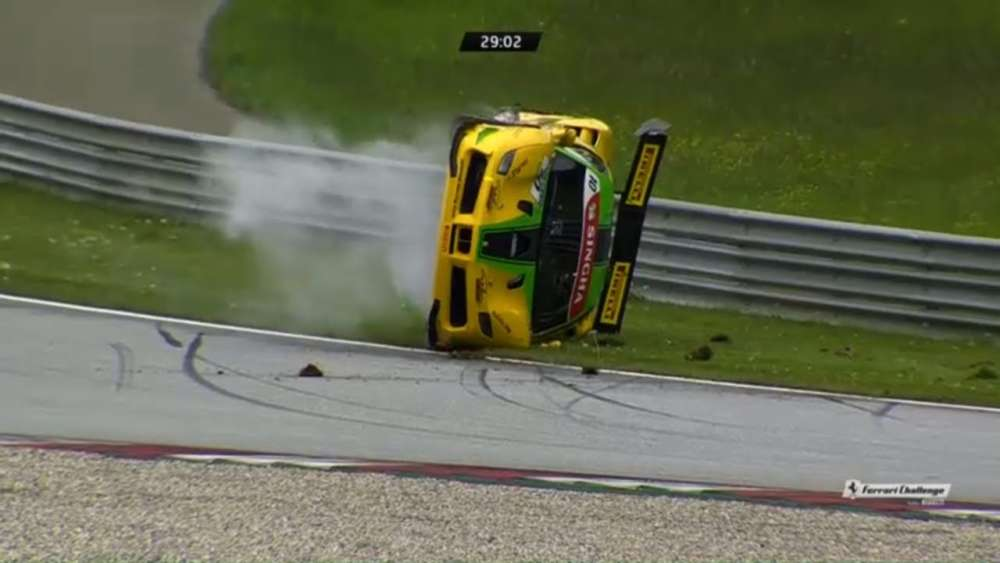 Ferrari Challenge Europe (Trofeo Pirelli) 2019. Race 1 Red Bull Ring. Start | Crash Roll_5ccdadb6b9d49.jpeg
