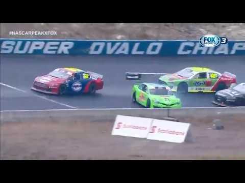 NASCAR PEAK Mexico Series 2019. Súper Óvalo Chiapas. Multiple Crashes_5cd87a947f316.jpeg