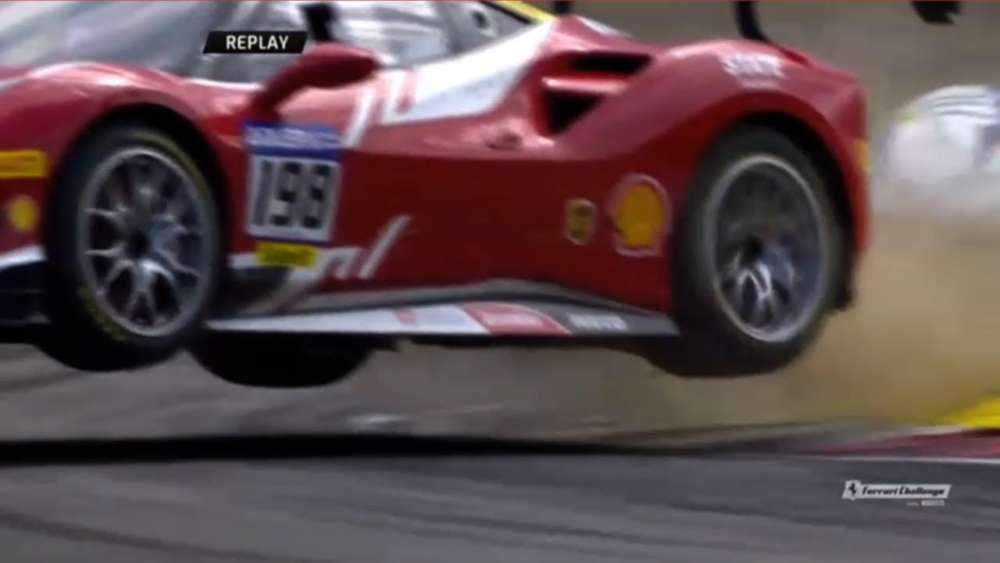 Ferrari Challenge Europe (Coppa Shell) 2019. Race 1 Nürburgring. Big Off_5d2219dadcb54.jpeg