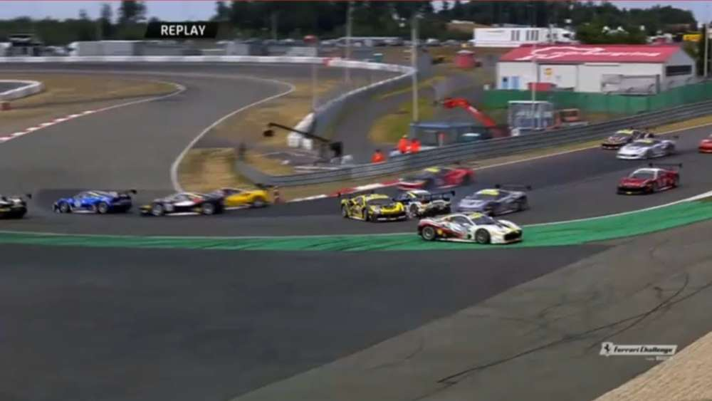 Ferrari Challenge Europe (Coppa Shell) 2019. Race 2 Nürburgring. Start Crashes_5d221c14c47eb.jpeg