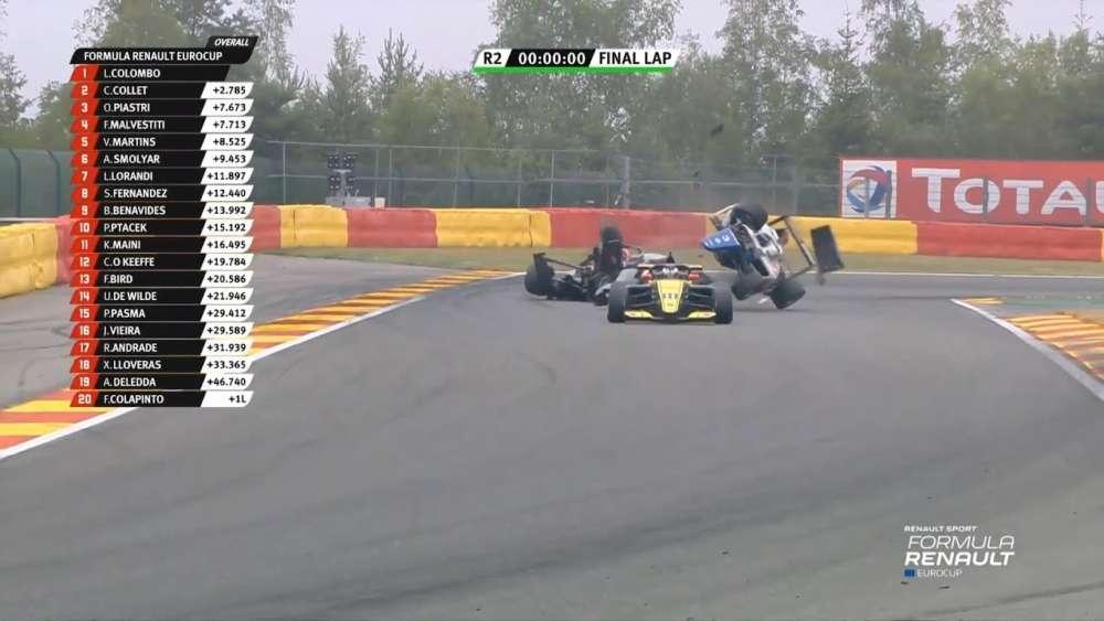 Formula Renault Eurocup 2019. Race 2 Circuit de Spa-Francorchamps. Big Crash Aleksandr Smolyar Rolls_5d3c1d81862cb.jpeg