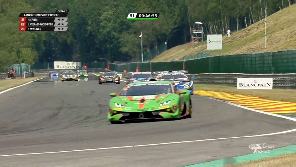 Lamborghini Super Trofeo Europe 2019. Race 1 Circuit de Spa-Francorchamps. Crash_5d3ae7257d122.jpeg