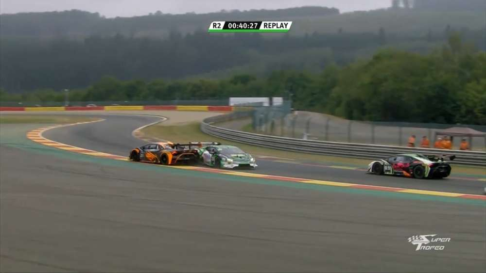 Lamborghini Super Trofeo Europe 2019. Race 2 Circuit de Spa-Francorchamps. Crash_5d3c26e11ddc7.jpeg